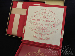 Custom Box Holiday Greeting Save the Date Magnet 7 paperworksandevents.com