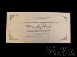 Elegant Bilingual Wedding Invitation with ornate corner designs (4)