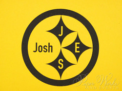 Steelers Football Bar Mitzvah Invitation 3 paperworksandevents.com