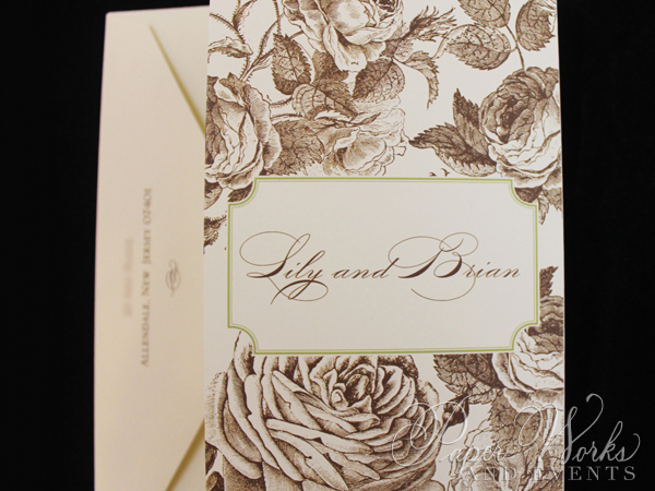 Elegant Floral Tri Fold After Wedding Celebration Invitation 5 paperworksandevents.com