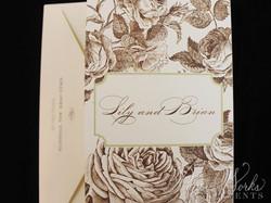Elegant Floral Tri Fold After Wedding Celebration Invitation 5 paperworksandevents.com