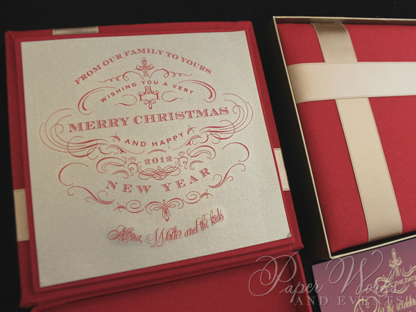 Custom Box Holiday Greeting Save the Date Magnet 6 paperworksandevents.com