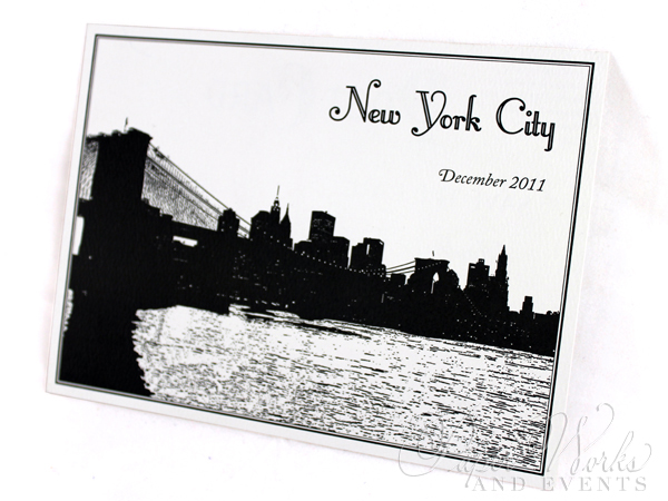 Classic Vintage Post Card Save the Date Black and White 3 paperworksandevents