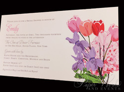 Spring shower invitation featured a bouquet of watercolored flowers (2)