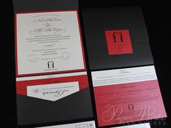 Penguin Pocket Folder Wedding Invitation (2)