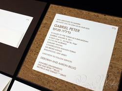 Modern Organic Layered Pocket Cork Invitation 2 paperworksandevents.com