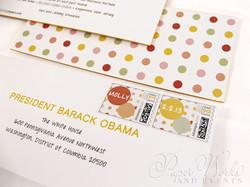 Modern Letterpress Foil Stamped Glitter Bat Mitzvah Invitation 6 paperworkandevents