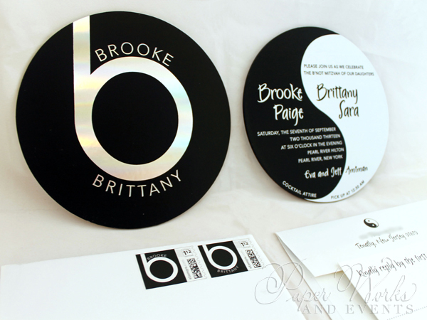 Ying Yang Double Sided Foil Stamped Beats by Dre Invitation 1 Custom Stamps paperworksandevents