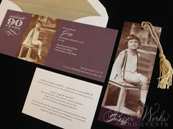 90th Birthday Invitation 3 paperworksandevents.com