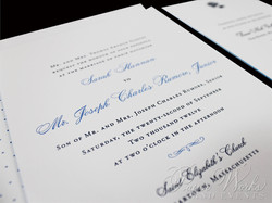 Letterpress Wedding Invitation with accents of hydrangeas (3)