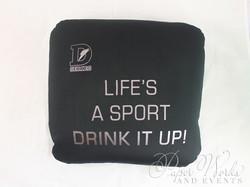 Sports Drink Bottle Label Invitation Microbead Pillow Giveaways 7 paperworksandevents.com