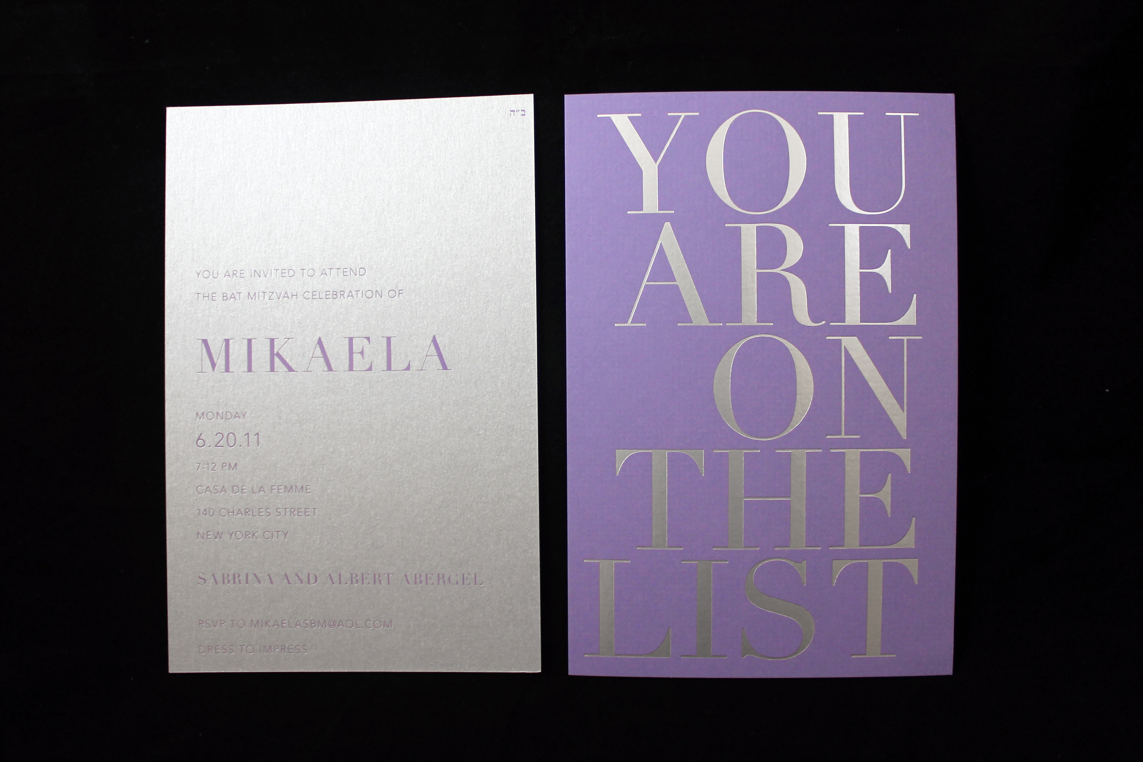 Mikaela, You are on the List