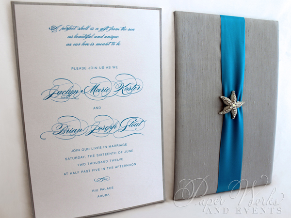 Destination Wedding Box Invitation with