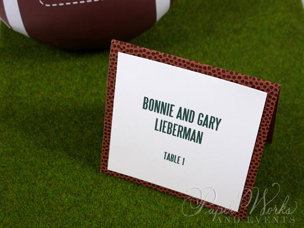 Football Team Turf Invitation 4 paperwor