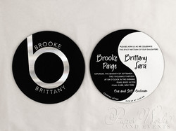Ying Yang Double Sided Foil Stamped Beats by Dre Invitation 1 paperworksandevents