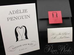 Penguin Pocket Folder Wedding Invitation (4)