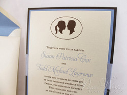 Multi Layered Silhouette Wedding Invitation 3 paperworksandevents.com