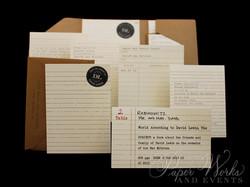 Library Card Catalog Pocket Invitation Custom Stamps 5 paperworksandevents.com