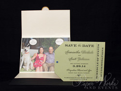 Dog Lovers Pocket Folder Luggage Tag Destination Wedding Save the Date 9 Wax Seal paperworksandevent
