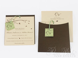 Fall Wedding Save the Date 3 trees candy apple paperworksandevents.com