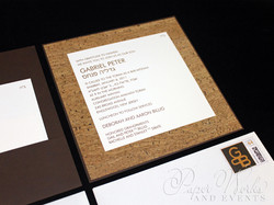 Modern Organic Layered Pocket Cork Invitation