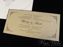 Elegant Bilingual Wedding Invitation with ornate corner designs (2)