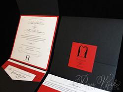 Penguin Pocket Folder Wedding Invitation (9)