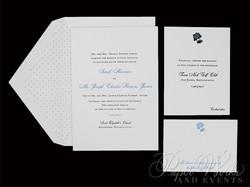 Letterpress Wedding Invitation with accents of hydrangeas (5)