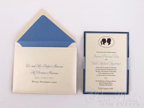 Multi Layered Silhouette Wedding Invitation 2 paperworksandevents.com