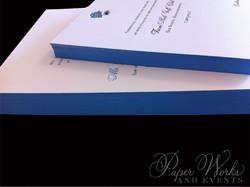 Letterpress Wedding Invitation with accents of hydrangeas (4)