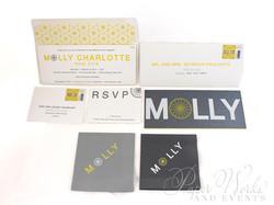 Modern Letterpress Foil Stamped Glitter Bat Mitzvah Invitation 2 paperworkandevents
