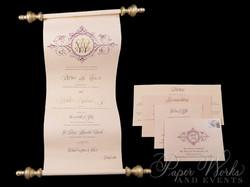 Scroll Wedding Invitation (5)
