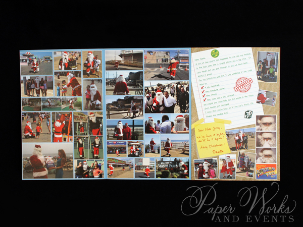 Unique Holiday Photo Card Tri Fold Santa 4 paperworksandevents.com