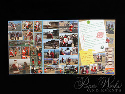 Unique Holiday Photo Card Tri Fold Santa 4 paperworksandevents.com