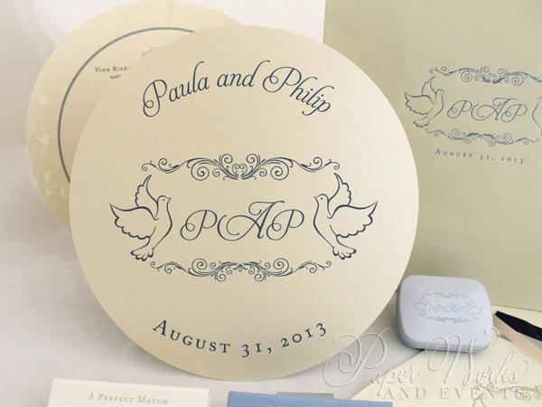 Round Wedding Menu Bellpress Printing paperworksandevents