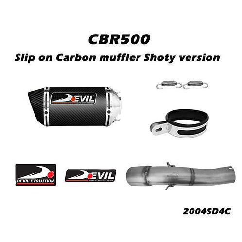 DEVIL EVO Slip on Carbon muffler Shoty Version (2004SD4C)