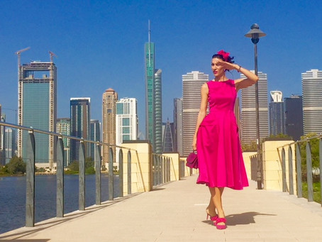 Too pink for Dubai? Just an ordinary pink day.