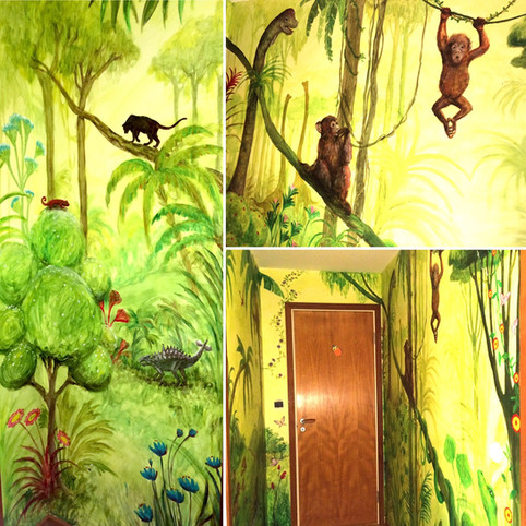 Jungle in a private home