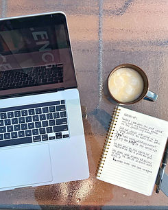 Computer, coffee, and the Bible