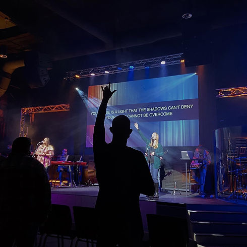 Worshipping at Connections in Schoolcraft Michigan