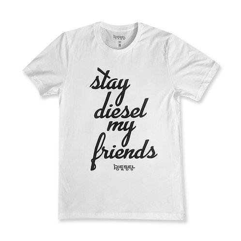 Stay Diesel Tee - White/Black