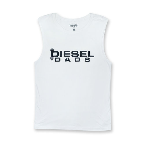 Logo Muscle Tank - White