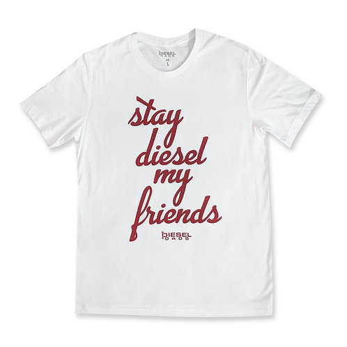 Stay Diesel Tee - White/Red