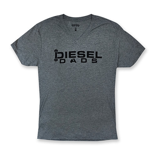 Logo V Neck - Dark Heather