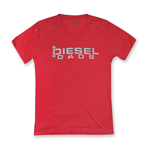 Logo V Neck - Red Heather
