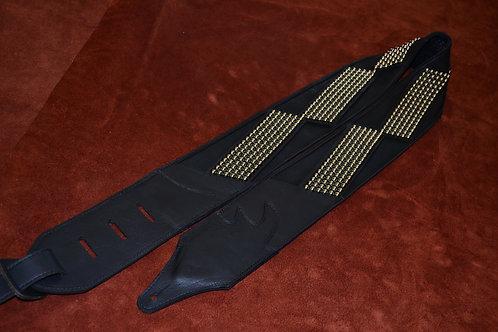Carlino Custom Racing Flag Stud Black Flag Leather