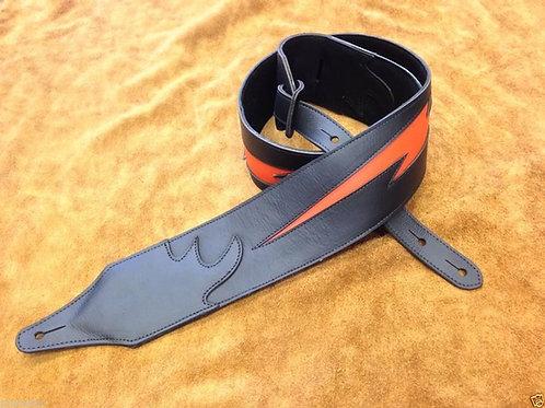 Carlino Custom Orange Lightening Leather Strap