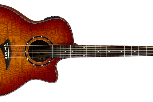 Dean Exotica Series Exotic Quilted Ash Cherry Sbur