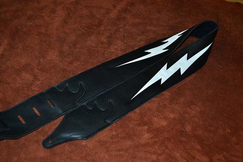 Carlino Custom Leather Lightening Bolt Guitar Stra