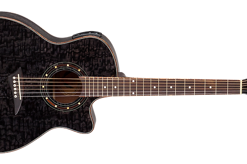 Dean Exotica Series Exotic Quilted Ash Trans Black